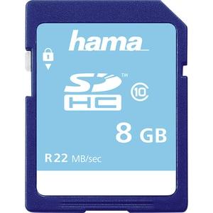 Card de memorie HAMA 104366, SDHC, 8GB, 22MB/s, clasa 10 CRD104366
