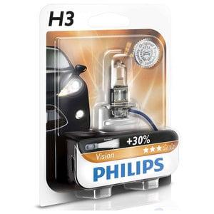 Bec auto proiector PHILIPS H3 Vision+30%, 55W, blister 1 bucata AUT12336PRB1