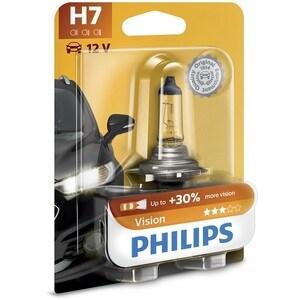 Bec auto PHILIPS H7 Vision+30%, 55W, blister 1 bucata AUT12972PRB1