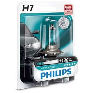 Bec auto far halogen PHILIPS H7 X-Treme Vision+130%, 12V, 55W, blister 1 bucata AUT12972XVB1