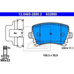 Placute frana spate ATE 13046028802, VW, Audi, Skoda AUT13046028802