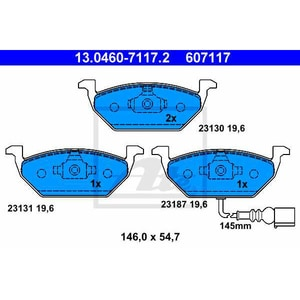 Placute frana fata ATE 13046071172, VW, Skoda AUT13046071172