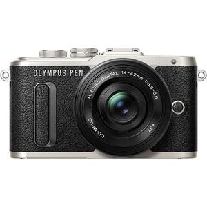 Aparat foto Mirrorless OLYMPUS E-PL8, 16.1 MP, Wi-Fi, negru + Obiectiv EZ-M 14-42mm MLCEZM1442IIRB