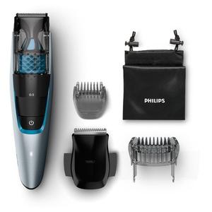 Set de tuns barba cu aspirator PHILIPS BT7210/15, acumulator, 75 min autonomie, argintiu TNSBT7210-15