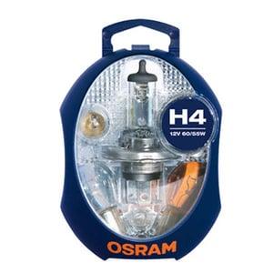 Set becuri auto OSRAM H4, 60/55W, 12V + sigurante AUT15720