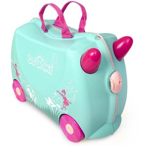 Troler copii TRUNKI Flora Fairy 0324-Gb01, 31 cm, verde deschis VTR0324GB01