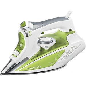 Fier de calcat ROWENTA Ecosteam DW9210D1, 2600W, 200g/min, 350ml, talpa Microsteam 400 Profile Laser, alb-verde FERDW9210D1