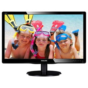 "Monitor LED TN PHILIPS 200V4LAB2/00, 19.5"", HD+, 60Hz, negru MON200V4LAB200"
