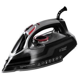 Fier de calcat RUSSELL HOBBS Power Steam Ultra 20630-56, 3100W, 210g/min, 350ml, talpa ceramica, negru FER20630-56