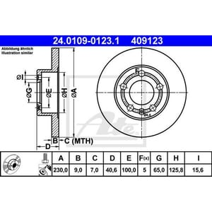Disc frana spate ATE 24010901231, VW, Skoda AUT24010901231