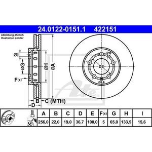 Disc frana fata ATE 24012201511, VW, Skoda AUT24012201511