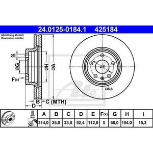 Disc frana fata ATE 24012501841, Audi AUT24012501841