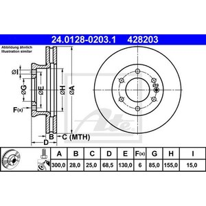 Disc frana fata ATE 24012802031, VW, Mercedes AUT24012802031