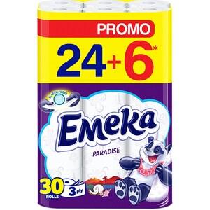 Hartie igienica EMEKA Paradise, 3 straturi, 30 role CONHIEMKPD3S30R