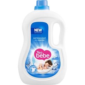 Detergent lichid TEO BEBE Cotton Soft Almond, 2.2l, 40 spalari CONDLTBALM2240