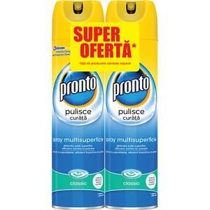 Pachet spray pentru mobila PRONTO Lemn Clasic, 2x300ml CON676009