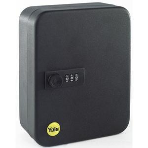 Cutie mica pentru chei YALE YKB/200/CB2, tabla, negru, 20 chei SEFYKB200CB2