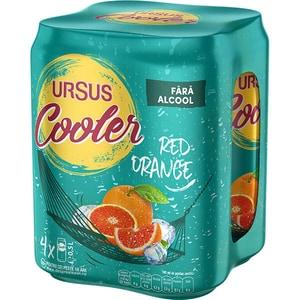 Bere blonda fara alcool URSUS Cooler Red Orange NA bax 0.5L x 4 cutii BAR93129