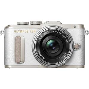 Aparat foto Mirrorless OLYMPUS E-PL8, 16.1 MP, Wi-Fi, alb + Obiectiv 14-42mm MLCEPL8M1442WH