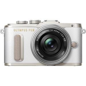 Aparat foto Mirrorless OLYMPUS E-PL8, 16.1 MP, Wi-Fi, argintiu + Obiectiv 14-42mm MLCEZM1442IIRS