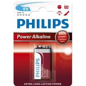 Baterie alcalina 9V PHILIPS 6LR61P1B/10 BAT6LR61P1B/10