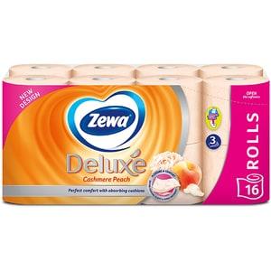 Hartie igienica ZEWA Deluxe Cashmere peach, 3 straturi, 16 role CONHIZWDCP3S16R
