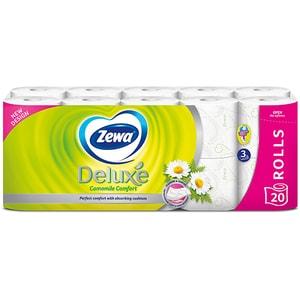 Hartie igienica ZEWA Deluxe Camomile comfort, 3 straturi, 20 role CONHIZWDCC3S20R