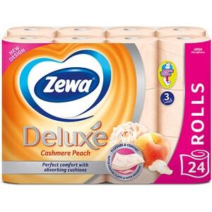 Hartie igienica ZEWA Deluxe Cashmere peach, 3 straturi, 24 role CONHIZWDCP3S24R