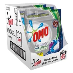 Detergent capsule OMO Ultimate Fresh Clean Trio Caps, 45 Spalari CONDCAPOUFC45