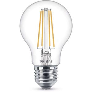 Bec LED PHILIPS FILAMENT A60, 7W (60W), E27, Lumina Calda BEC929001387317