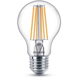 Bec LED PHILIPS FILAMENT A60, 8W (75W), E27, Lumina Rece BEC929001384101