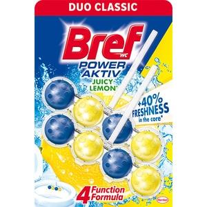 Odorizant toaleta BREF Power Aktiv Juicy Lemon, 2 x 50g CONOTBFPAJL2X50