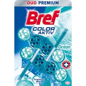 Odorizant toaleta BREF Turquoise Aktiv Ocean, 2 x 50g CONOTBRFTAO2X50