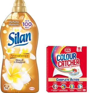 Pachet Balsam de rufe SILAN Aromatherapy Citrus Oil, 1.85l, 74 spalari + Servetele K2R Colour Catcher, 10 buc CONBSLNACOK2R