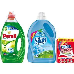 Pachet Detergent lichid PERSIL Power Gel, 4l, 80 spalari + Balsam SILAN, 2.77l, 111 spalari + Servetele K2R 40 buc CONMIXPRSSLNK2R