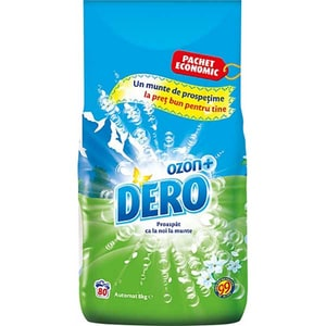 Detergent automat DERO Ozon Roua Muntelui, 8kg, 80 spalari CONDEROAORM8KG