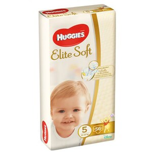 Scutece HUGGIES Elite Soft nr 5, Unisex, 12 - 22 kg, 56 buc SCB9400864