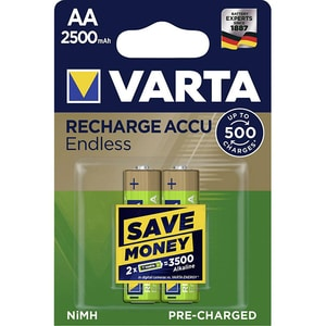 Acumulatori VARTA Endless 56686101402, Ni-Mh, AA(R6), 2500 mAh, 2 bucati ACM56686101402