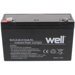 Acumulator plumb acid  WELL BAT-LEAD-6V10AH-WL, 6V, 10 Ah ACMLEAD6V10AH
