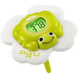 Termometru de baie AGU Froggy TB4, 0 luni +, alb - verde MEDAGUTB4