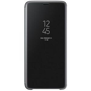 Husa Clear View Standing pentru SAMSUNG Galaxy S9 Plus, EF-ZG965CBEGWW, Black AHSZG965CBEG