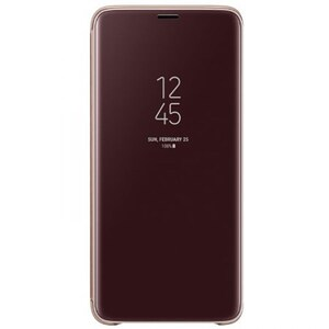 Husa Clear View Standing pentru SAMSUNG Galaxy S9 Plus, EF-ZG965CFEGWW, Purple Gold AHSZG965CFEG