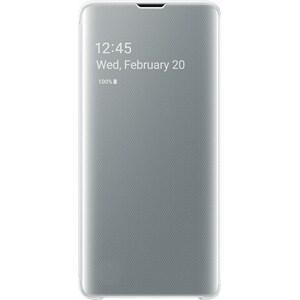 Husa Clear View pentru SAMSUNG Galaxy S10 EF-ZG973CWEGWW, white AHSZG973CWEG
