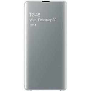 Husa Clear View pentru SAMSUNG Galaxy S10 Plus EF-ZG975CWEGWW, white AHSZG975CWEG