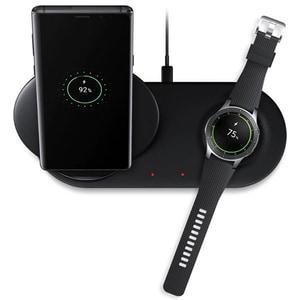 Incarcator wireless SAMSUNG Duo EP-N6100TBEGWW, universal, QI, Type C, negru AISWIRELESSDUO