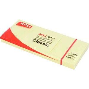 Notite adezive APLI, 300 file, 38 x 51mm, galben PBHAL010975