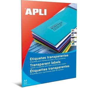 Etichete autoadezive APLI, A4, 210 x 297 mm, 20 bucati, 20 coli/set PBHAL01225