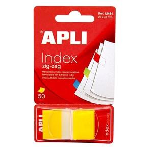 Index APLI, 24 x 45 mm, hartie, 50 file, galben PBBAL012610