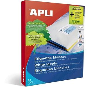 Etichete autoadezive APLI, A4, 105 x 74 mm, 800 bucati, 100 coli/top PBHAL11714