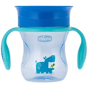 Cana CHICCO 360 Perfect Cup, 1 - 4 ani, 200 ml, albastru APH6951207